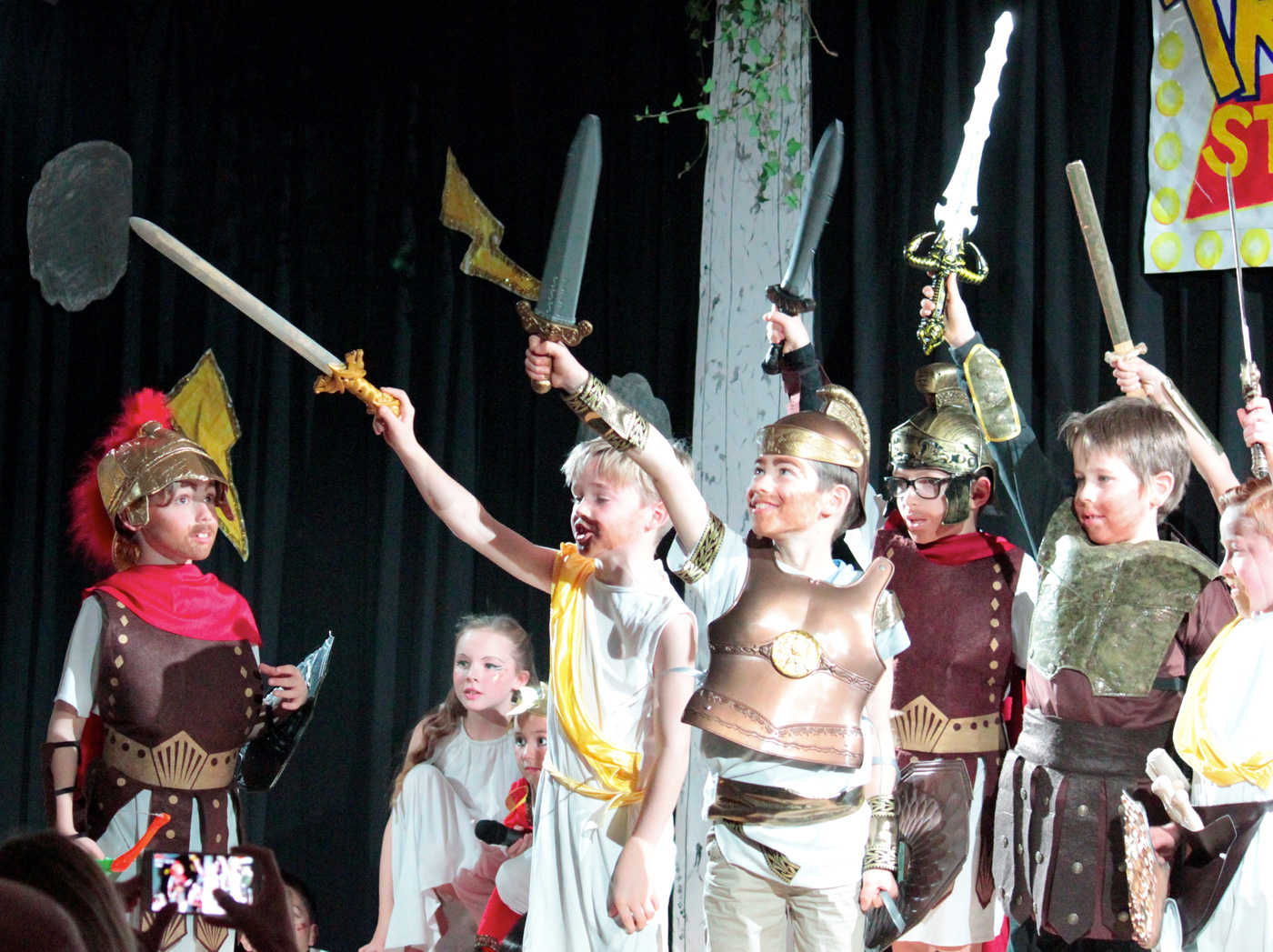 Year 4 perform Troy Story, based on Homer's epic tale